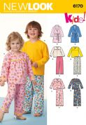 6170 New Look Pattern: Toddler's and Child's Pyjamas